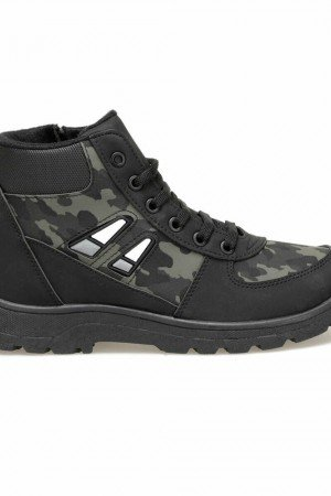 Boy's Lace-up Black Outdoor Boot
