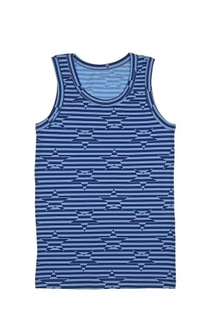 Boy's Star Print Sleeveless Undershirt