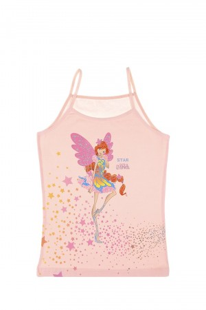 Girl's Printed Sleeveless Undershirt