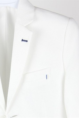 Ages 3-15 Boy's Pocket White Sport Jacket
