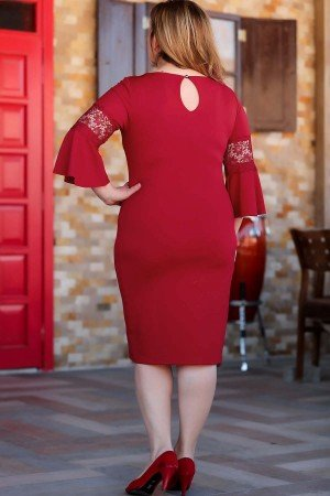 Large Size Red Dress