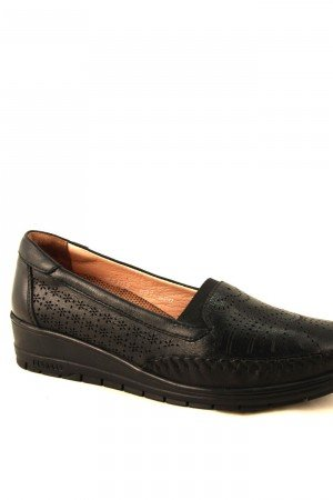 Women's Black Casual Leather Shoes
