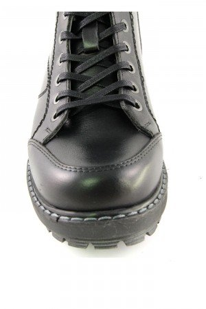 Women's Black Leather Comfort Boots