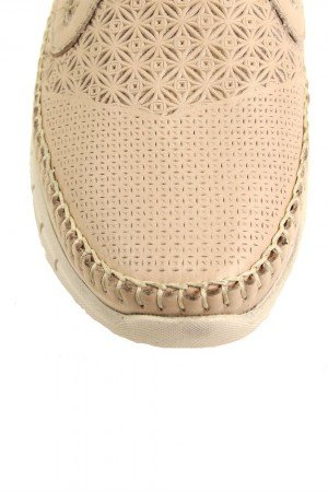 Women's Beige Leather Anatomic Shoes