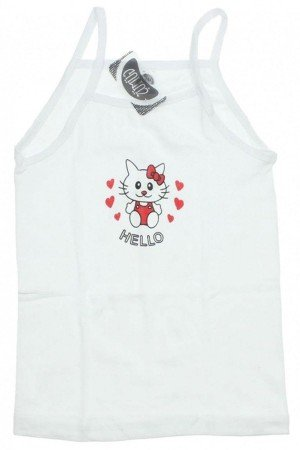 Girl's Thin Strap Printed Camisole- 6 Pieces