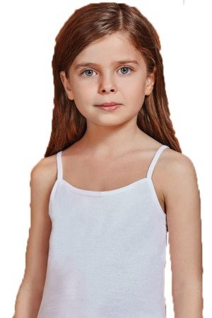 Girl's Thin Strap Combed Cotton Camisole- 6 Pieces