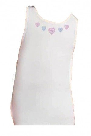 Girl's Wide Strap Embroidered Camisole- 6 Pieces