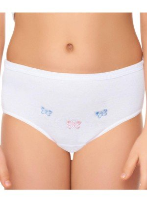 Girl's Embroidered Panty- 12 Pieces