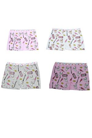 Girl's Patterned Cotton Boxer- 6 Pieces