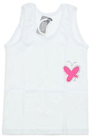 Girl's Thick Strap Gemmed Camisole- 6 Pieces