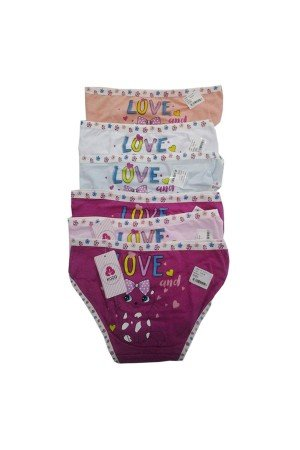 Girl's Patterned Panty- 6 Pieces
