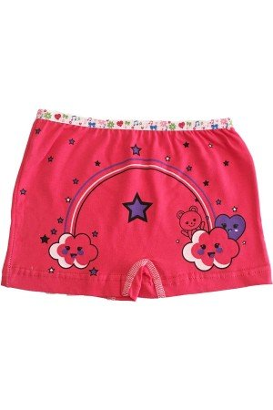 Girl's Cotton Lycra Boxer- 6 Pieces