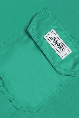 Men's Plain Green Swim Trunks
