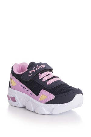 Kid's Navy Blue- Pink Sport Shoes