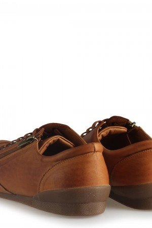 Women's Zipper Accessory Ginger Leather Comfort Shoes