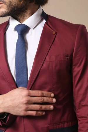 Men's Claret Red Jacket