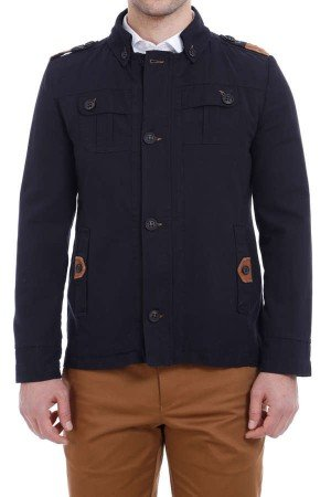 Men's Epaulette Black Coat